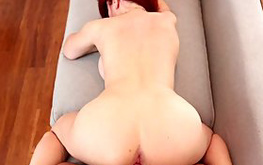 Look at this amazing red haired beauty showing her sweet cunt looking hot