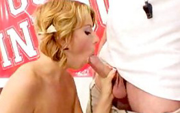 Check out this attractive babe just got her filthy mouth filled with cum