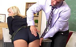 Fancy blonde beauty is riding this amzing fat boner getting it deep