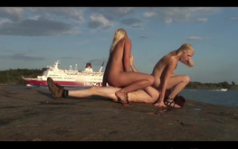 nordic teen threesome sex in public